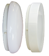 Round Fluorescent Lighting in Polycarbonate or Acrylic
